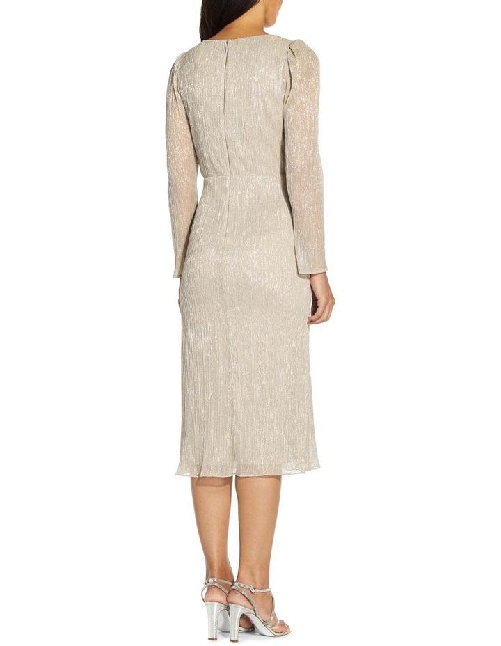 Metallic Knit Wrap Dress image 2