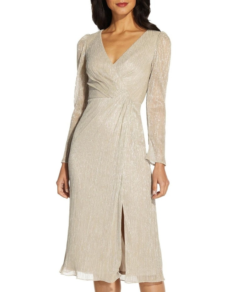 Metallic Knit Wrap Dress image 4