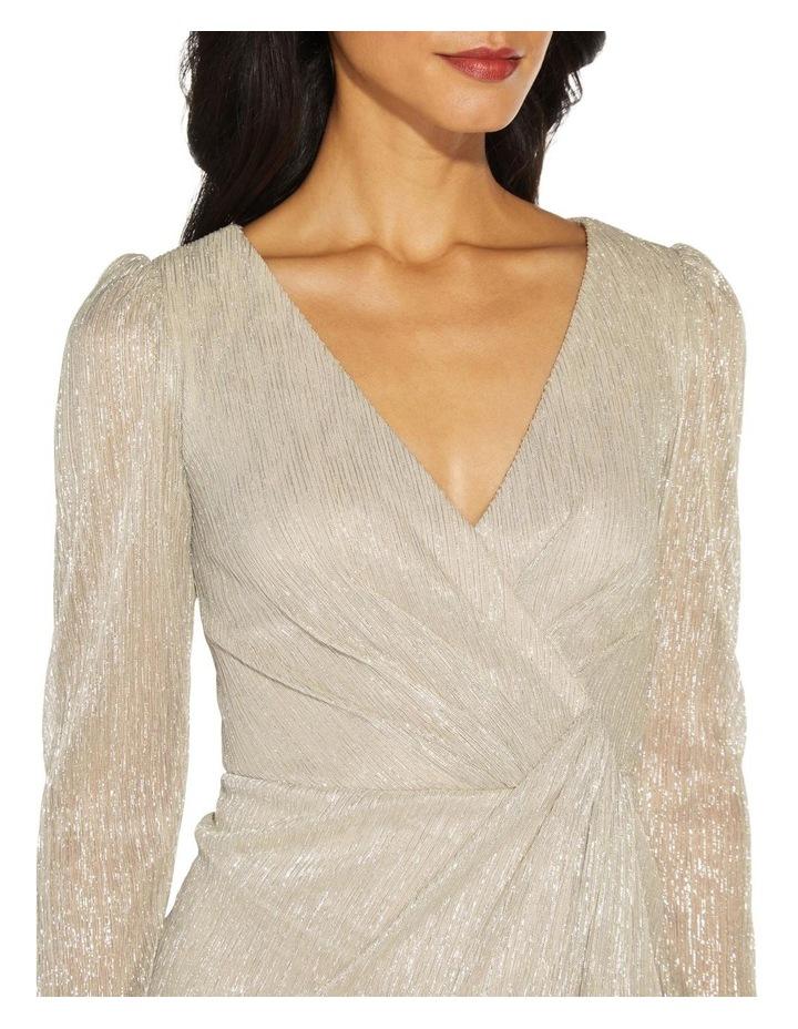 Metallic Knit Wrap Dress image 5