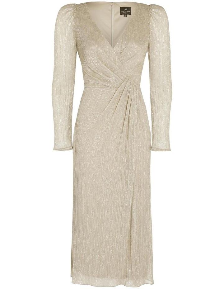 Metallic Knit Wrap Dress image 6