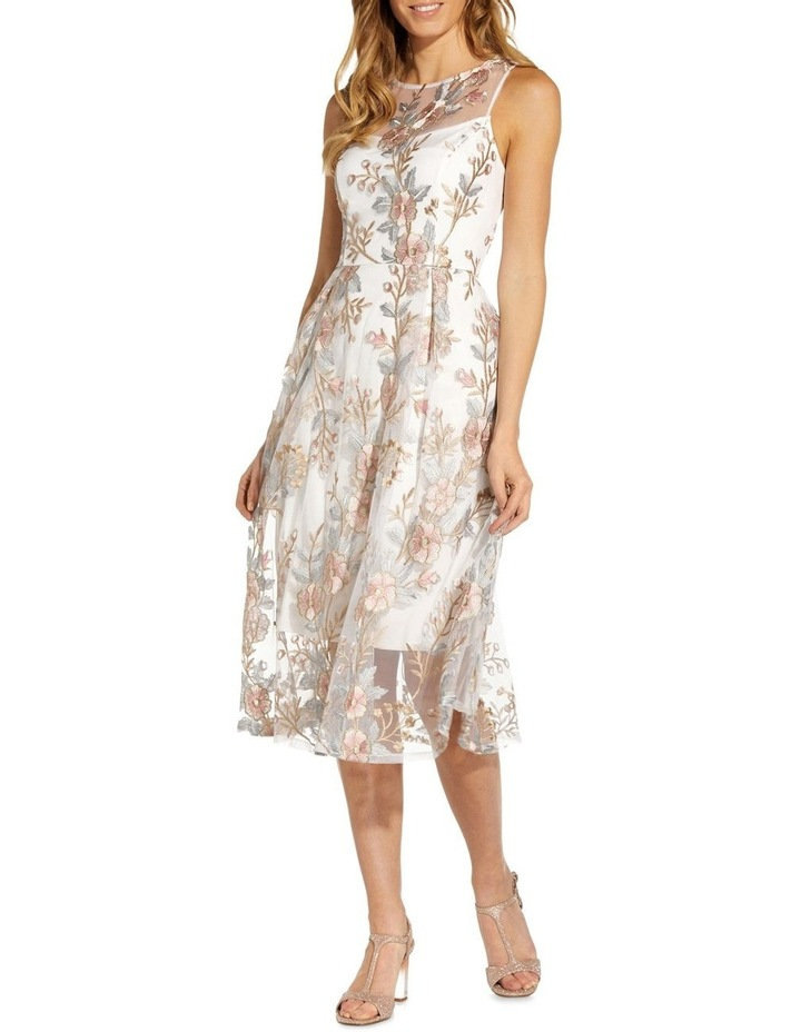 Floral Embroidery Flared Dress image 1