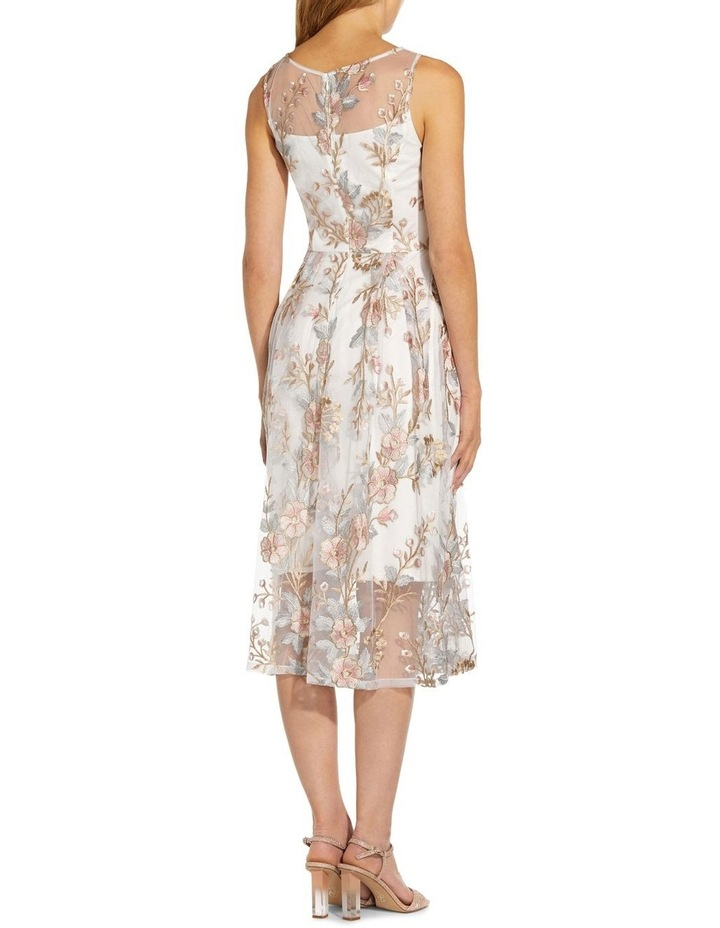 Floral Embroidery Flared Dress image 2