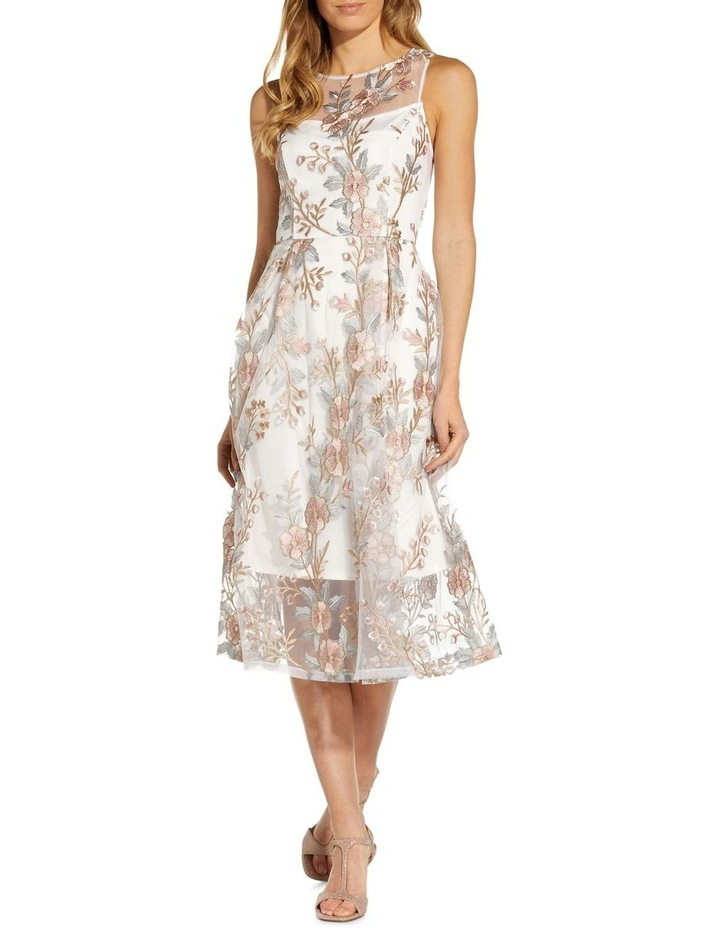 Floral Embroidery Flared Dress image 3