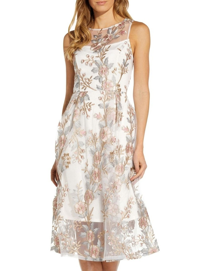 Floral Embroidery Flared Dress image 4