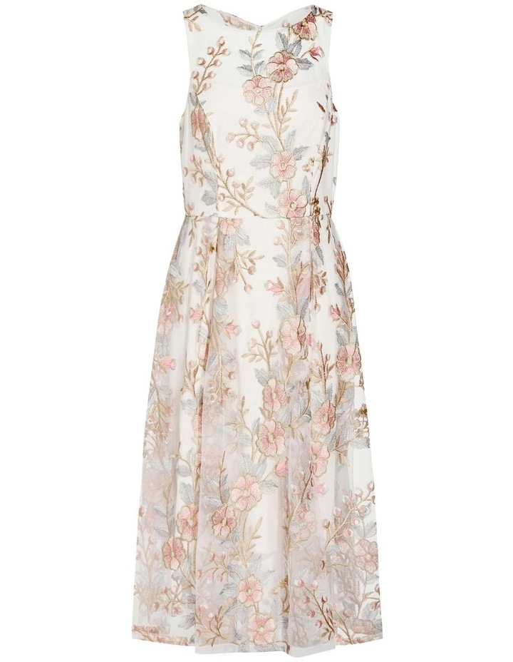 Floral Embroidery Flared Dress image 6