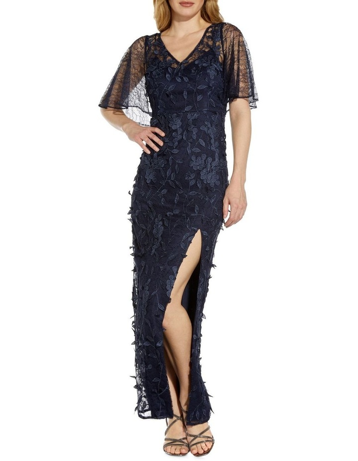 3D Embroidered Gown image 3