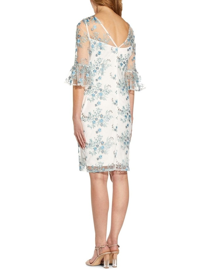 Embroidered Bell Sleeve Sheath Dress image 2