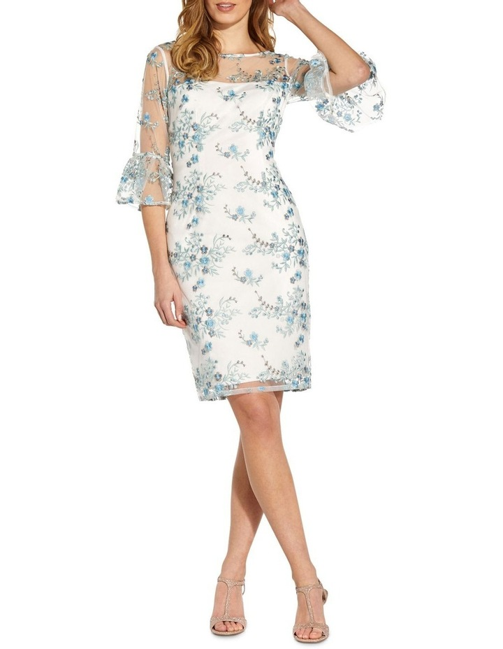 Embroidered Bell Sleeve Sheath Dress image 3
