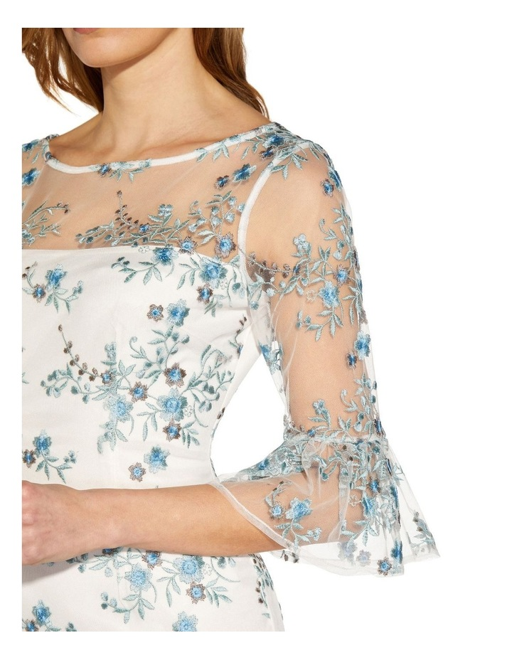 Embroidered Bell Sleeve Sheath Dress image 5