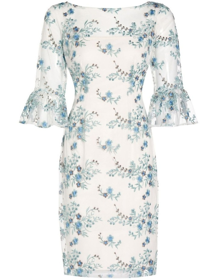 Embroidered Bell Sleeve Sheath Dress image 6