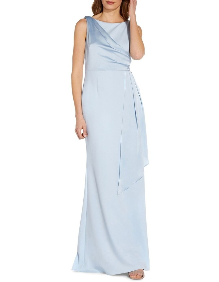 Knit Crepe Satin Gown image 1