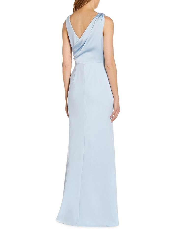 Knit Crepe Satin Gown image 2