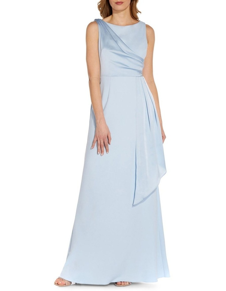 Knit Crepe Satin Gown image 3