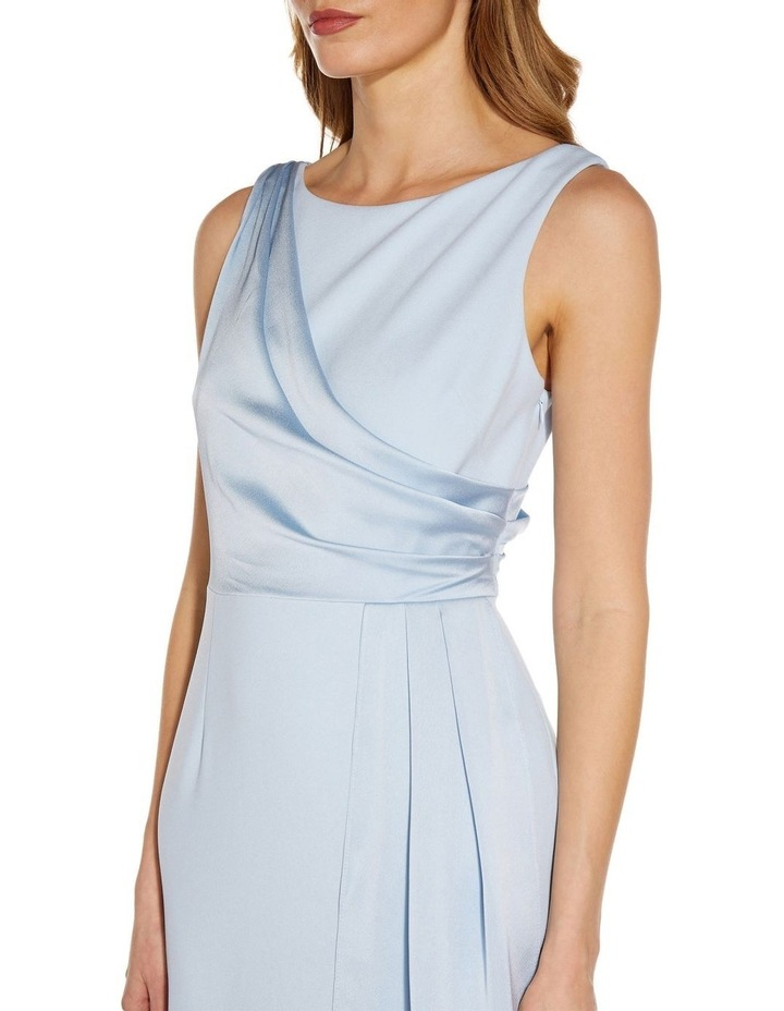 Knit Crepe Satin Gown image 4