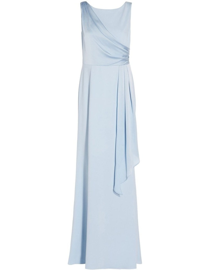 Knit Crepe Satin Gown image 5
