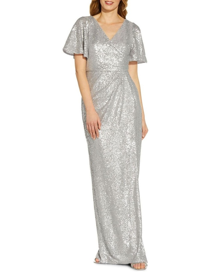 Wave Sequin Draped Gown image 1