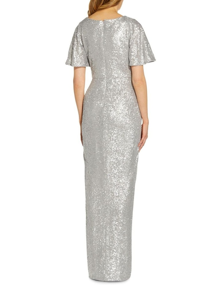 Wave Sequin Draped Gown image 2