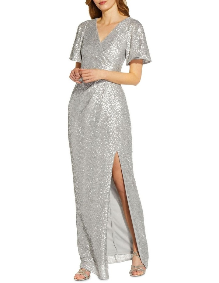 Wave Sequin Draped Gown image 3