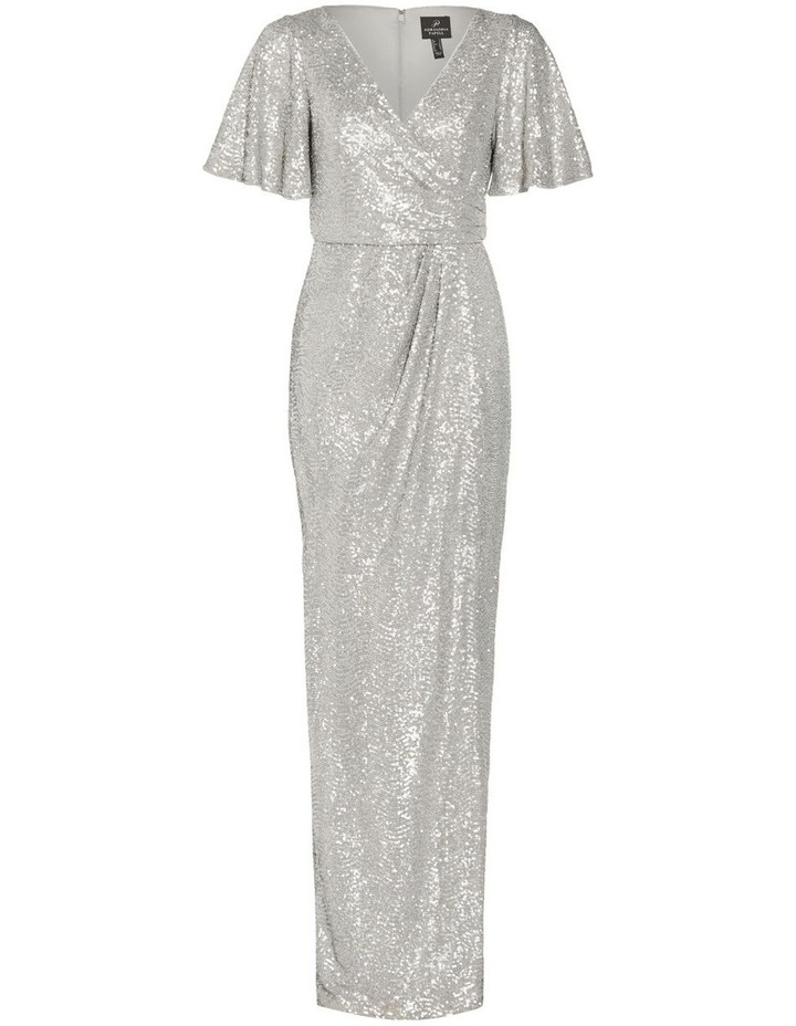 Wave Sequin Draped Gown image 4