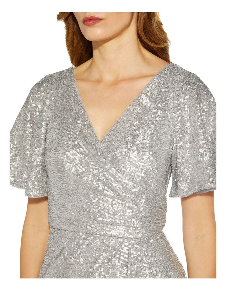 Wave Sequin Draped Gown image 5