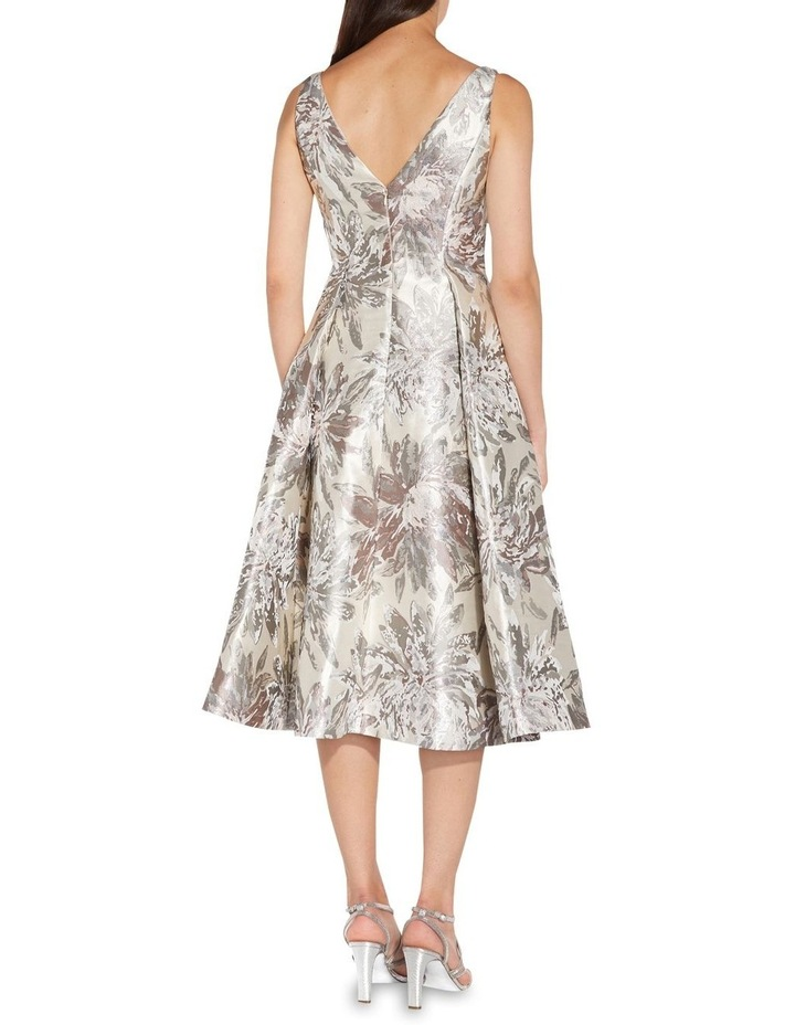 Metallic Jacquard Midi Dress image 2
