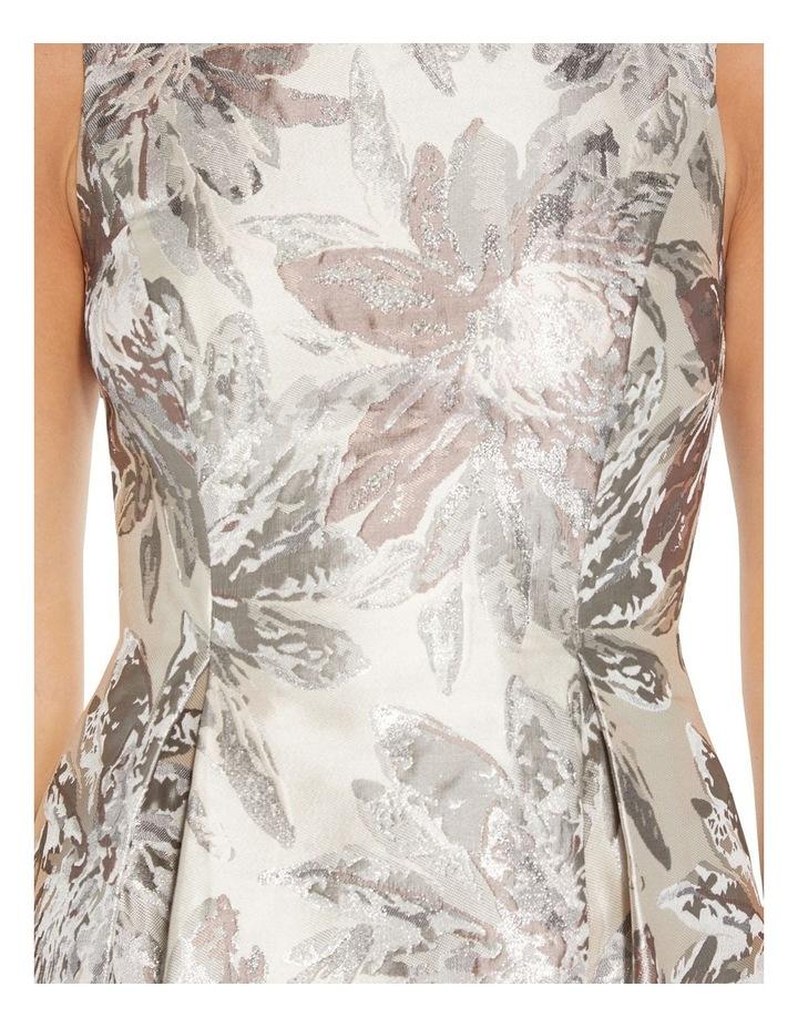 Metallic Jacquard Midi Dress image 5
