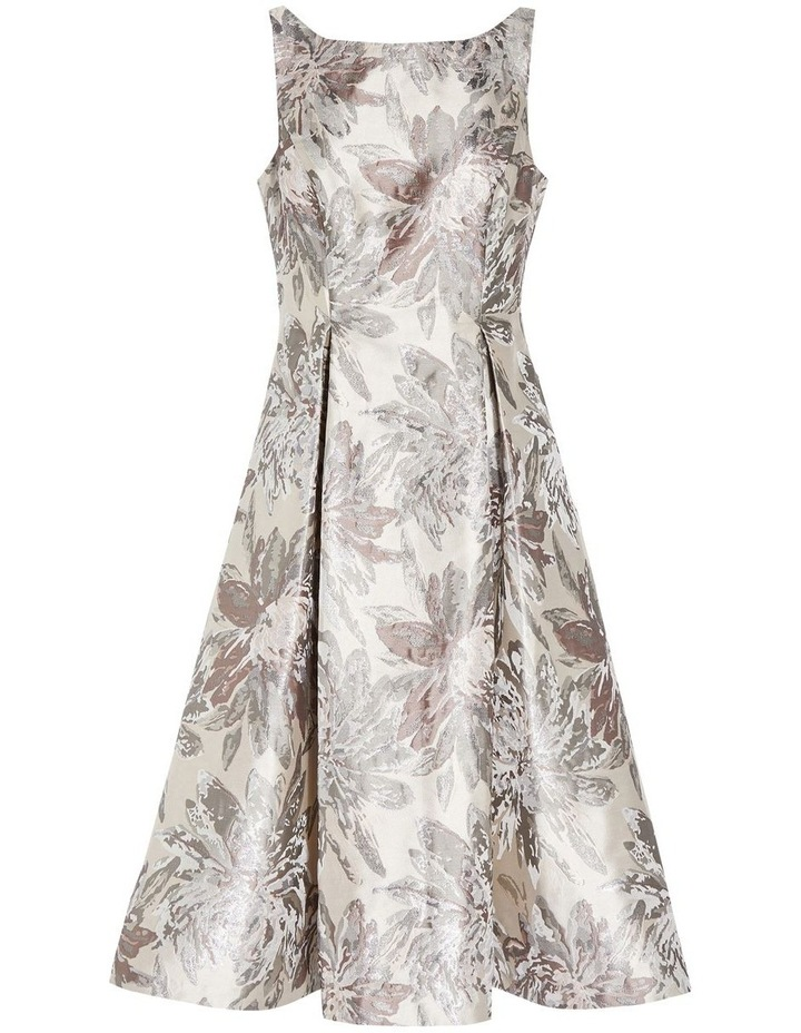 Metallic Jacquard Midi Dress image 6