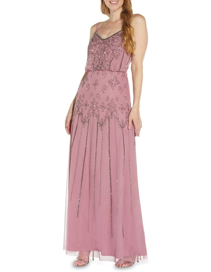 Beaded Blouson Gown Dress image 3