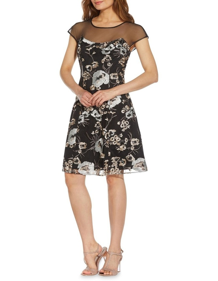 Embroidered Fit And Flare Dress image 1