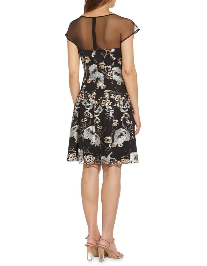 Embroidered Fit And Flare Dress image 2
