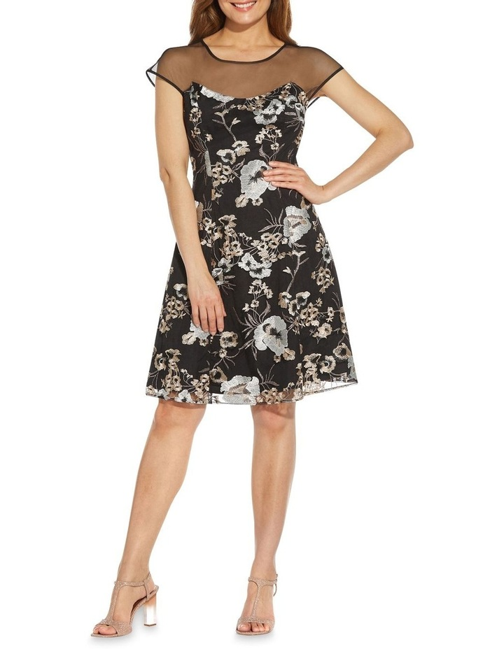 Embroidered Fit And Flare Dress image 3