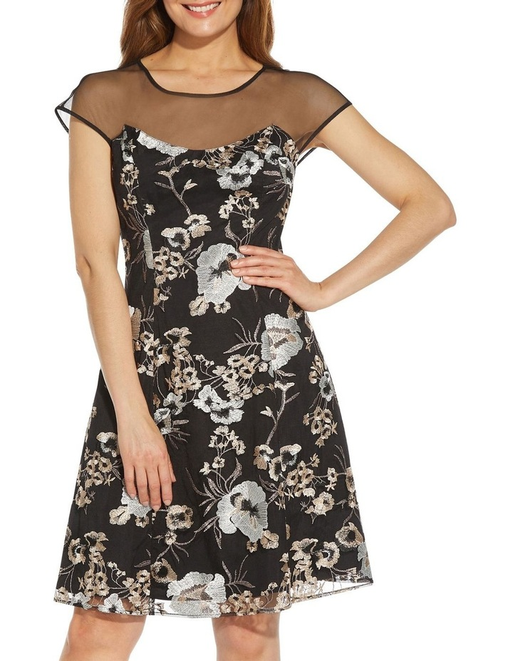 Embroidered Fit And Flare Dress image 4