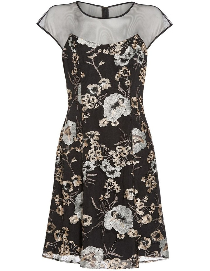 Embroidered Fit And Flare Dress image 6