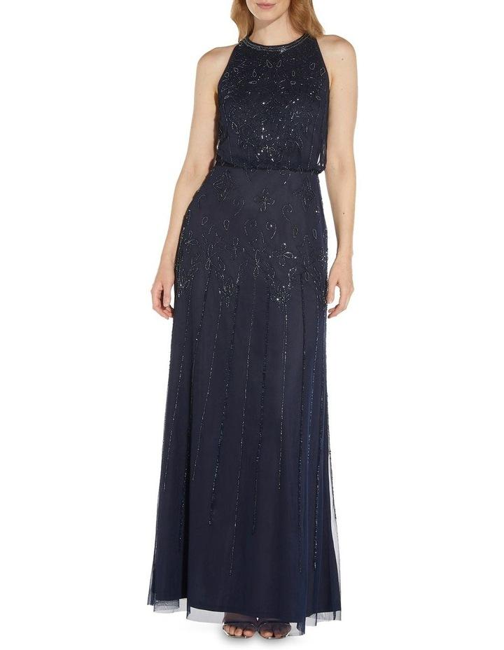 Beaded Blouson Gown Dress image 1