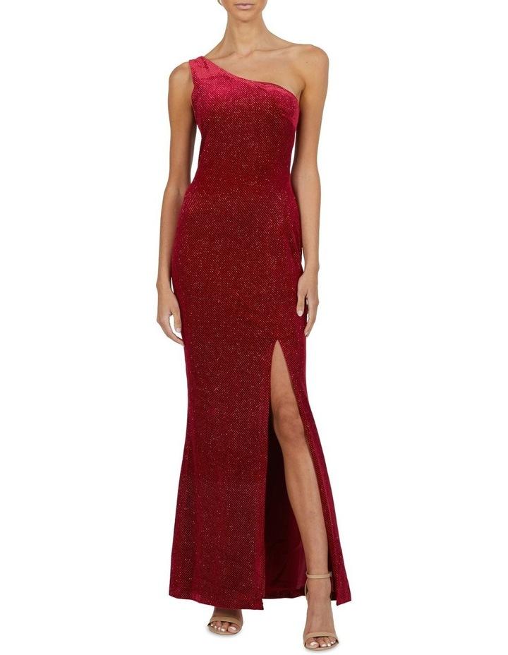 Holly One Shoulder Split Maxi Dress image 1
