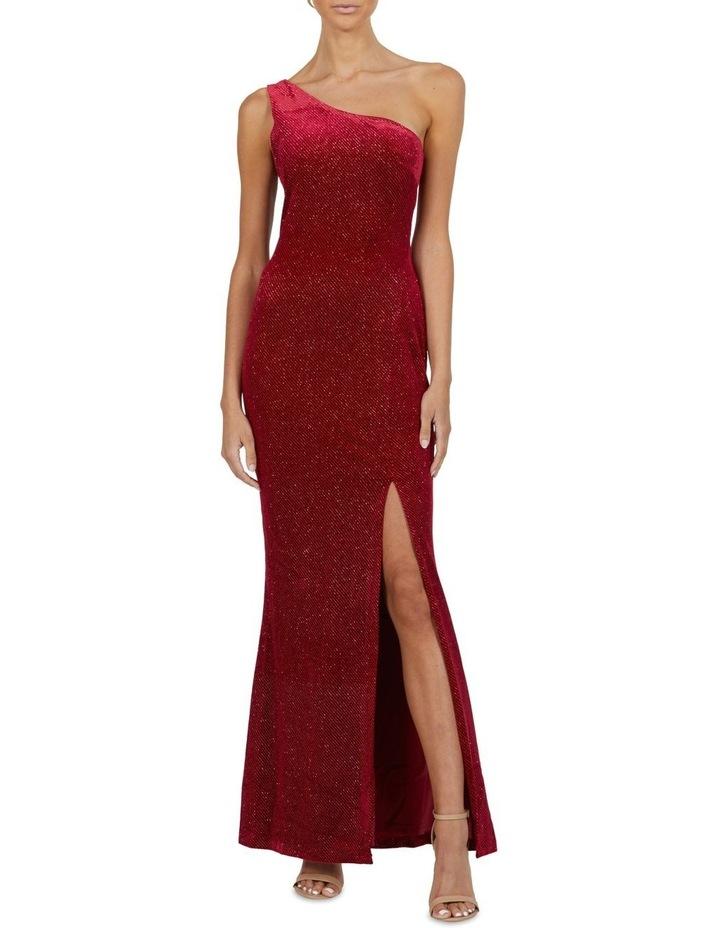 Holly One Shoulder Split Maxi Dress image 2