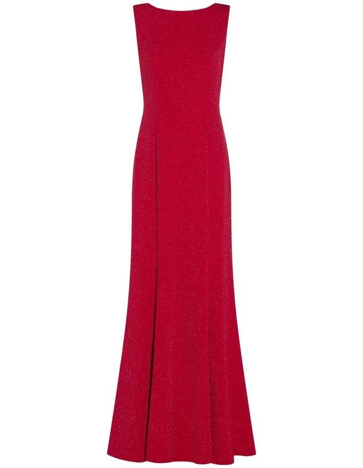 Metallic Knit Cowl Back Dress image 5