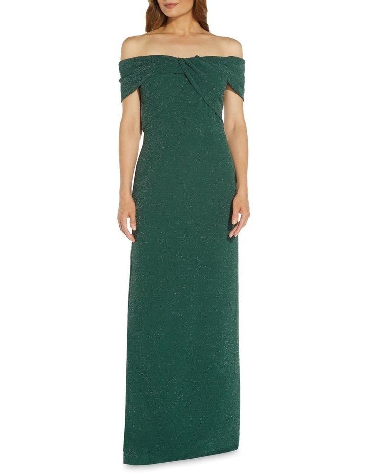 Metallic Knit Column Gown Dress image 3