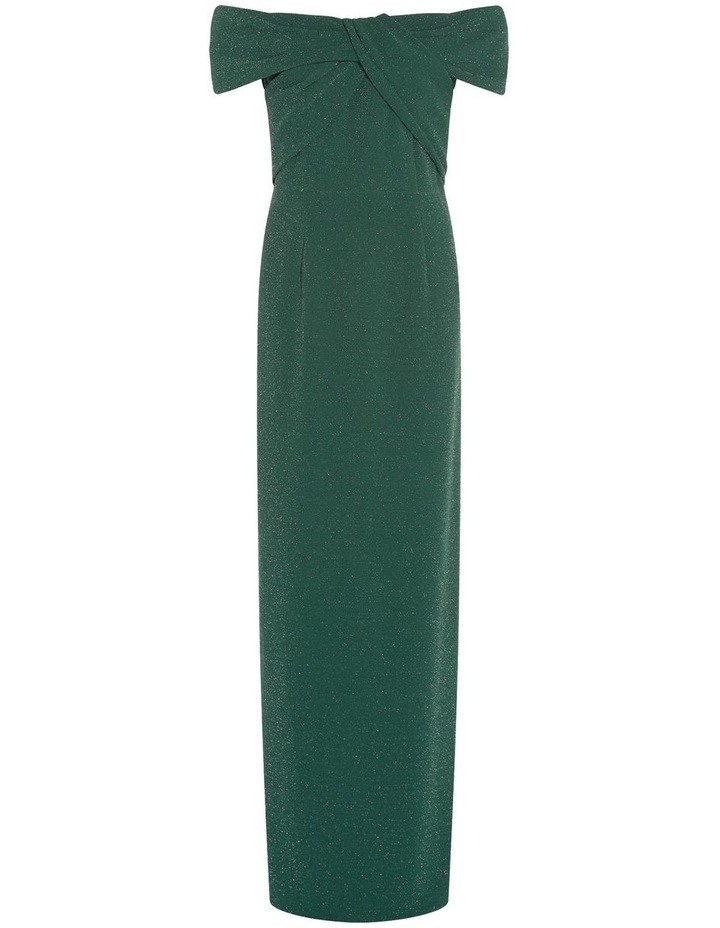 Metallic Knit Column Gown Dress image 5