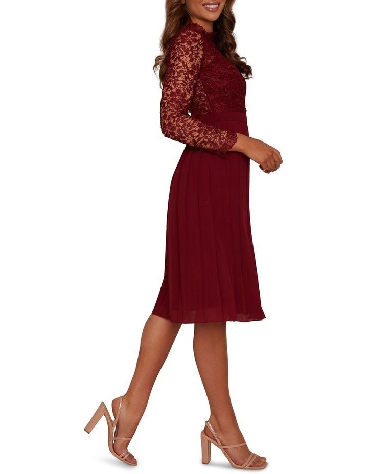 Long Sleeve Midi Dress Burgundy image 2