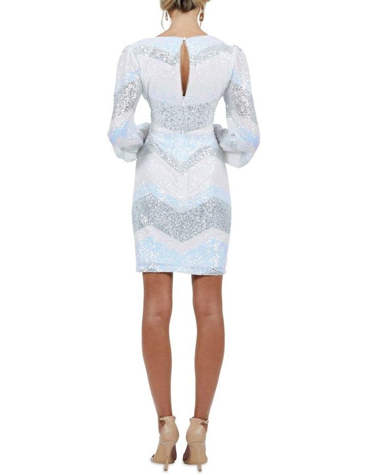 Mia Stripe Sequin Bell Sleeve Mini Dress image 2