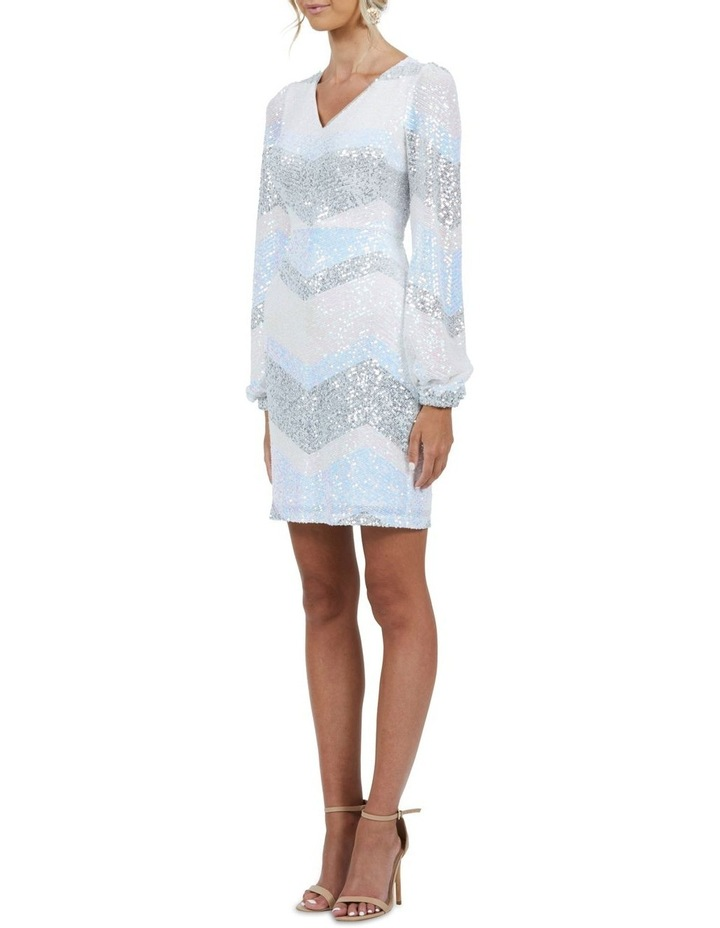 Mia Stripe Sequin Bell Sleeve Mini Dress image 4