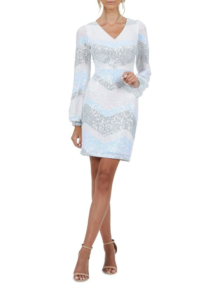 Mia Stripe Sequin Bell Sleeve Mini Dress image 5
