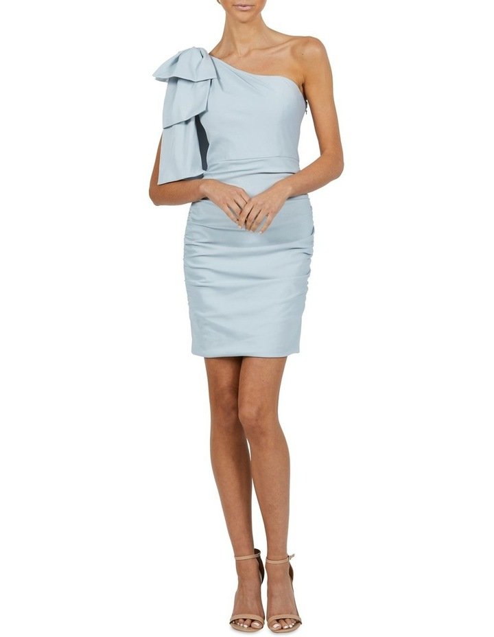 Circus One Shoulder Rouched Mini Dress Blue image 1