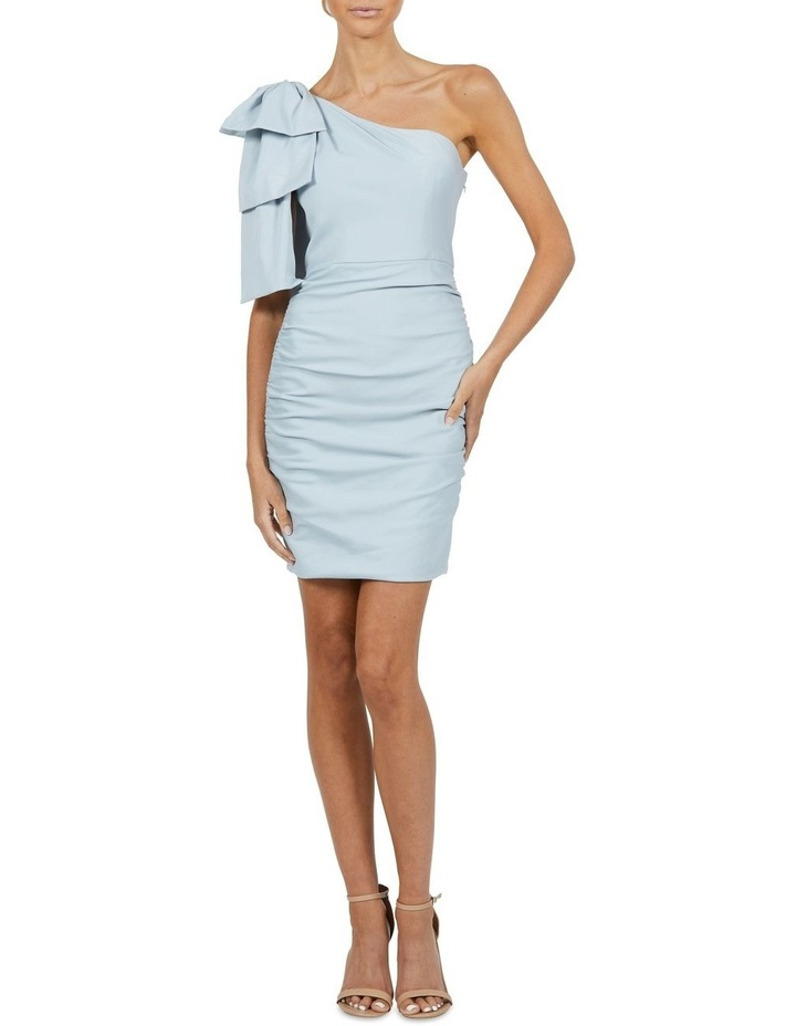 Circus One Shoulder Rouched Mini Dress Blue image 4