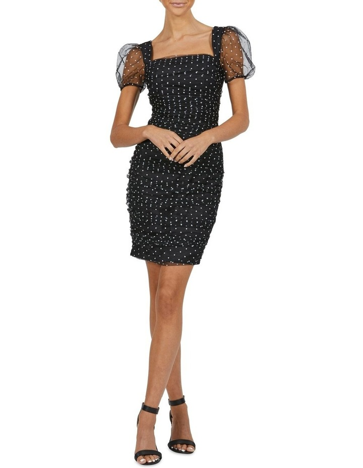 Derby Rouched Puff Sleeve Mini Dress image 4