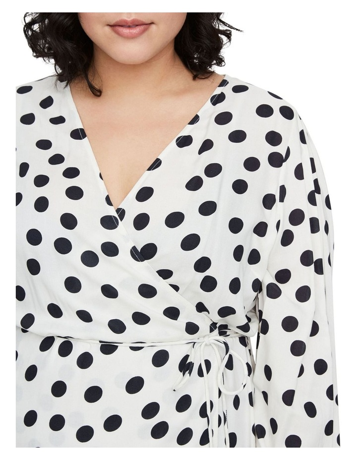 Kayla Long Sleeve 7/8 Wrap Dress image 4