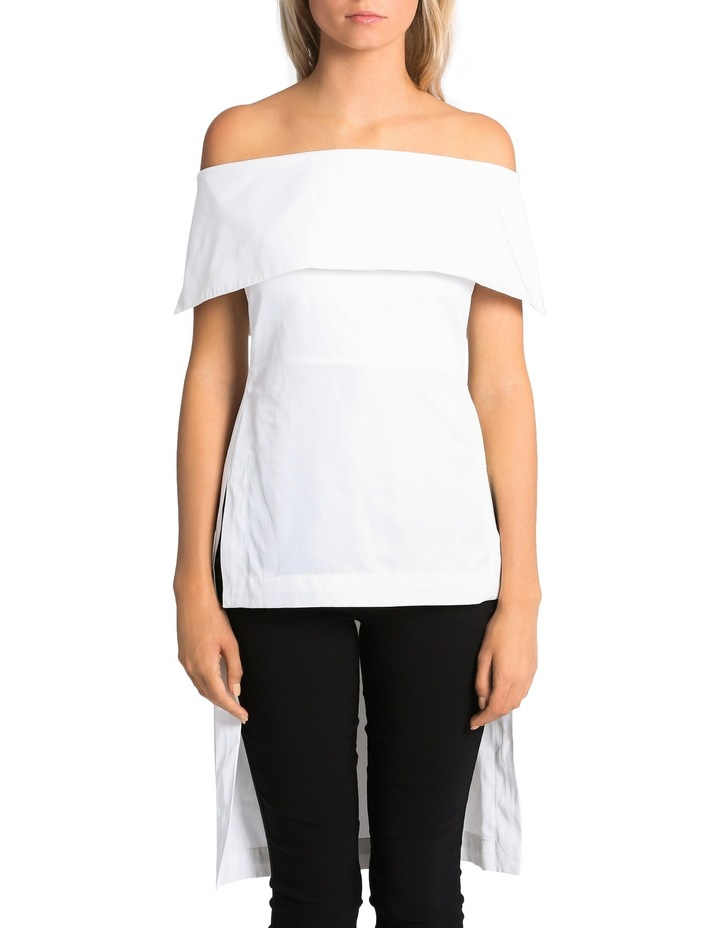 Off The Shoulder High Low Top image 1