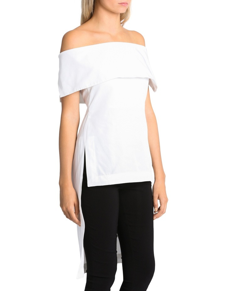 Off The Shoulder High Low Top image 2