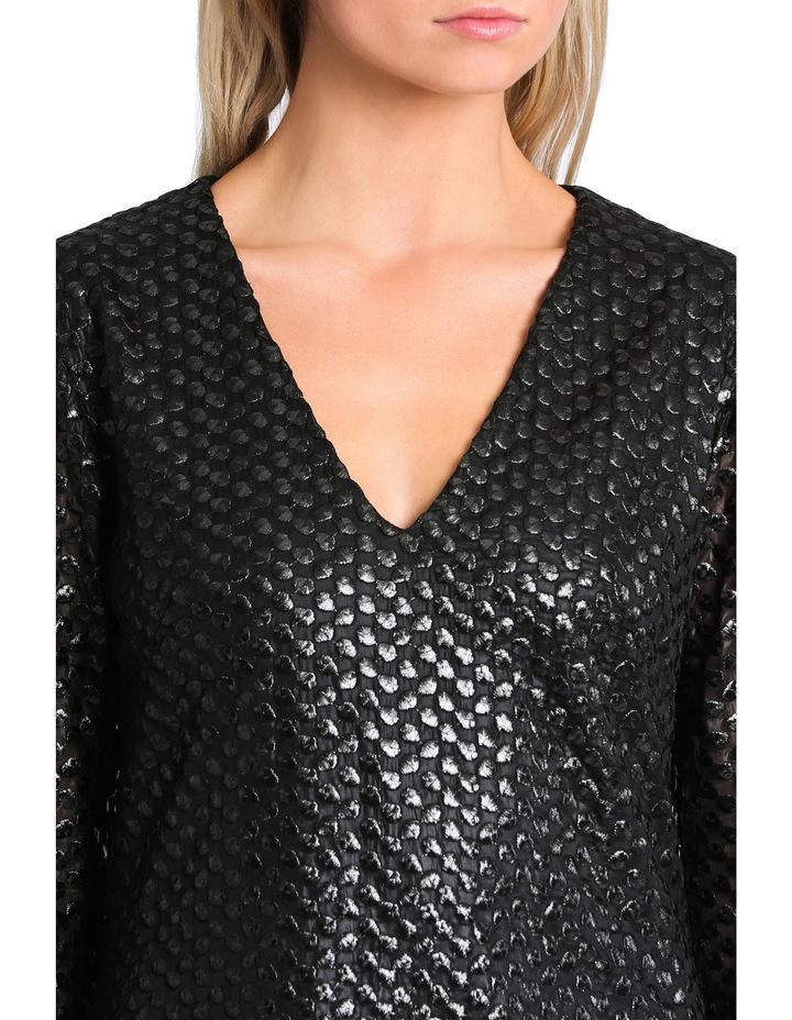 Long Sleeve Bell Sleeve Shift Dress image 4